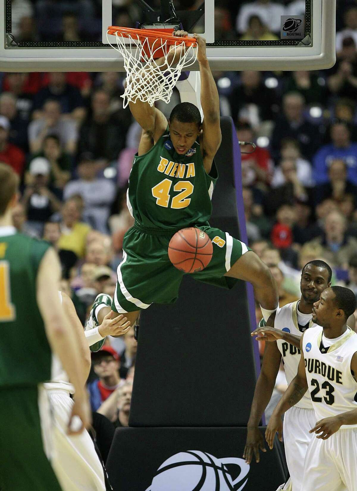 Alex Franklin said he is rooting for the current Siena team to break the school record set in 2010, when Franklin played. (Photo by Otto Greule Jr/Getty Images)