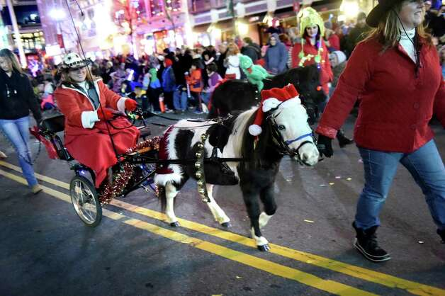 A miniature horse gets in the holiday spirit during the 48th Annual Daily Gazette Holiday Parade on Saturday, Nov. 21, 2015, in Schenectady, N.Y. (Cindy Schultz / Times Union) Photo: Cindy Schultz / 00033960A