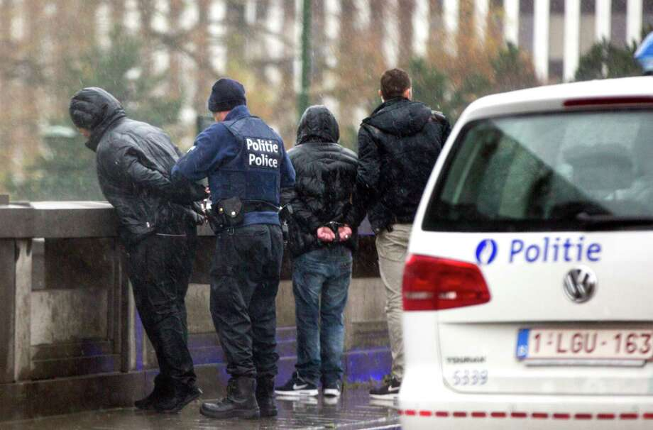 Two people are detained in Brussels after a car with French license plates was stopped and searched, as the capital was placed on maximum alert. Norte-Dame du Finist Photo: Photos By Virginia Mayo /Associated Press / AP