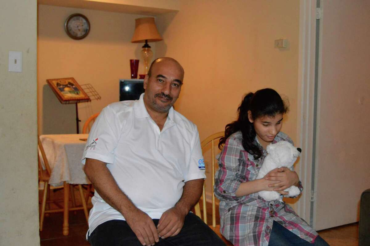 Syrian refugee Maher settled in Houston five months ago with his family, including a 13-year-old daughter.