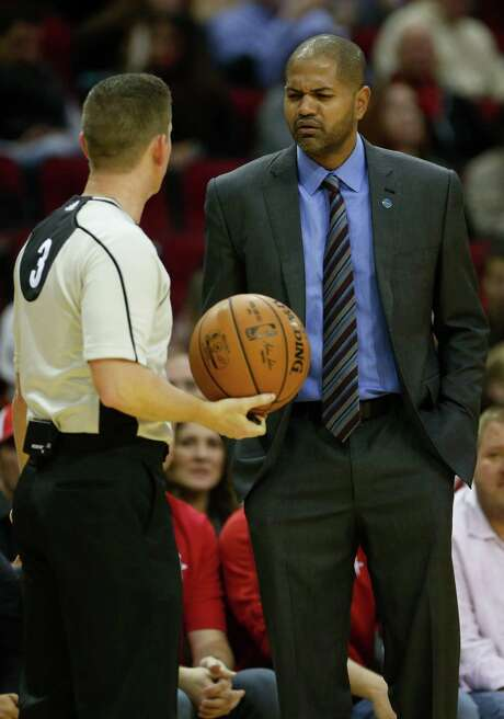 Rockets interim coach J.B. Bickerstaff thinks his team's 3-point shooting woes will cure themselves if given enough time and, well, shots Photo: Karen Warren, Staff / © 2015  Houston Chronicle