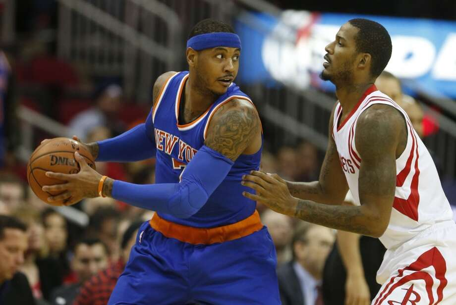 Carmelo Anthony has only been part of two playoff runs in the NBA, but that would change if he joined the Rockets. Photo: Karen Warren, Houston Chronicle