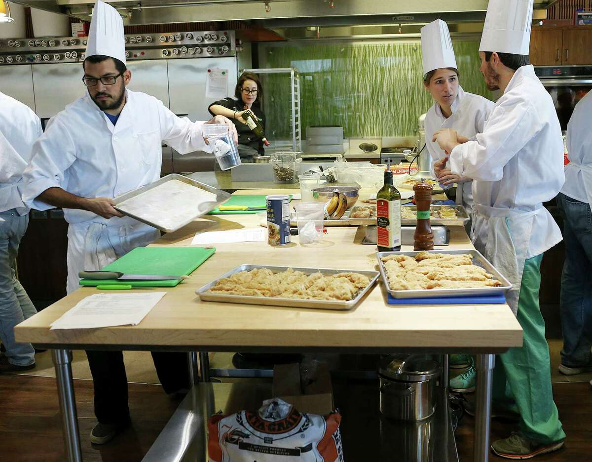 There's an H-E-B culinary academy: Become an H-E-B chef and send us all the goodies. The culinary academy is in San Antonio.