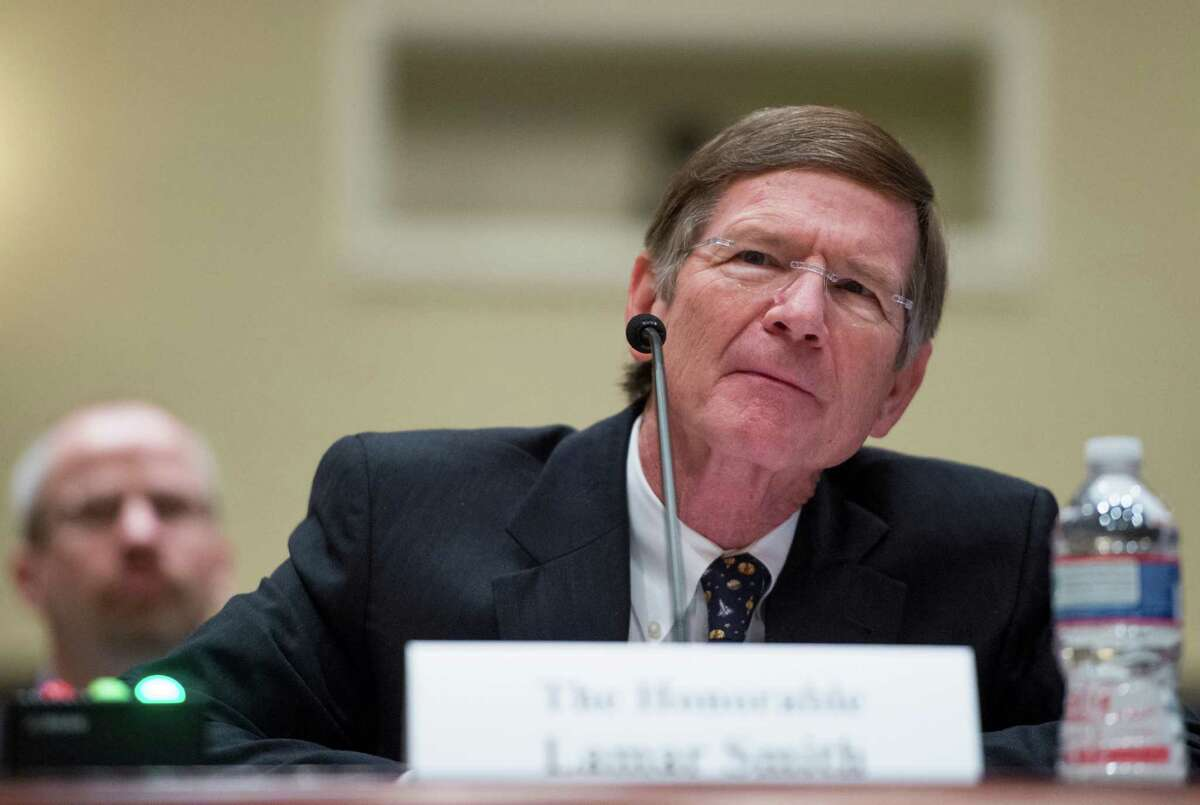 """Chairman of the Science, Space, and Technology Committee Lamar Smith, R-Texas, makes his case for funding of his committee during the House Administration Committee hearing on """"Committee Funding for the 113th Congress"""" on Wednesday, March 6, 2013."""