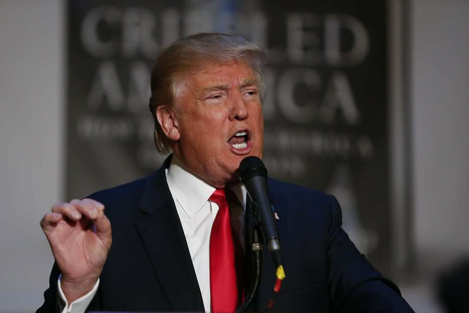 "Trump most outrageous quotesIn this November 3, 2015 photo, Republican presidential candidate Donald Trump speaks during an event to launch his new book ""Crippled America: How to Make America Great Again.""Click through to read some of Trump's most outrageous quotes. Photo: Kena Betancur, AFP / Getty Images"