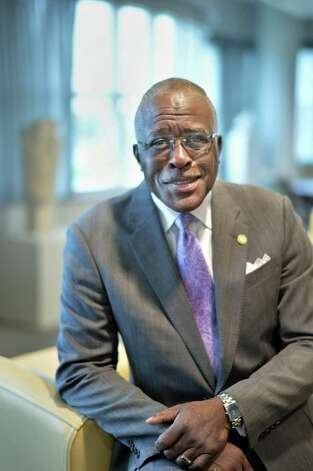 UAlbany President Dr. Robert Jones at his offices Wednesday Oct. 21, 2015 in Albany, NY.  (John Carl D'Annibale / Times Union) Photo: John Carl D'Annibale / 10033826A