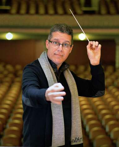 Artistic and executive director Jose Daniel Flores-Caraballo during a rehearsal of Albany Pro Musica at the Troy Music Hall Tuesday Oct. 20, 2015 in Troy, NY.   (John Carl D'Annibale / Times Union) Photo: John Carl D'Annibale / 10033798A