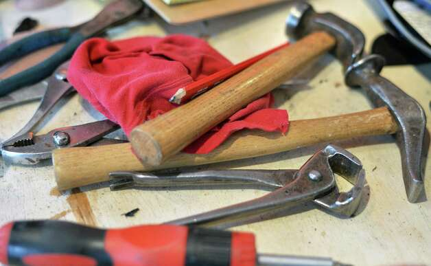 Cobbler's tools at the Last Gentleman Company on Union Street Tuesday Oct. 27, 2015 in Schenectady, NY.  (John Carl D'Annibale / Times Union) Photo: John Carl D'Annibale / 10033887A