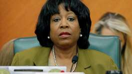Rep. Ruth Jones McClendon, D-San Antonio, listens to testimony during a meeting of the Sunset Advisory Commission Tuesday, July 15, 2008, in Austin, Texas. The Texas Department of Transportation governing board has come under scrutiny recently over planned public-private toll road partnerships, the route of the proposed Trans-Texas Corridor superhighway and questions concerning agency budget figures. (AP Photo/Harry Cabluck)