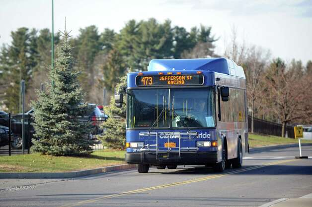 CDTA bus arrives at the Saratoga Casino and Raceway on Wednesday, Nov. 18, 2015, in Saratoga Springs, N.Y. (Cindy Schultz / Times Union) Photo: Cindy Schultz / 10034341A