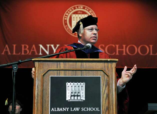 Stephen P. Younger, Class of 1982, president of the New York State Bar Association and partner at Patterson Belknap Webb & Tyler, speaks during the Albany Law School Commencement Ceremony at Saratoga Performing Arts Center Friday morning May 13, 2011.   (John Carl D'Annibale / Times Union) Photo: John Carl D'Annibale / 00012804A