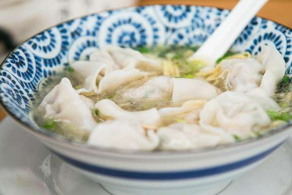 The wonton soup served at Taste of Jiangnan on Clement Street in San Francisco.