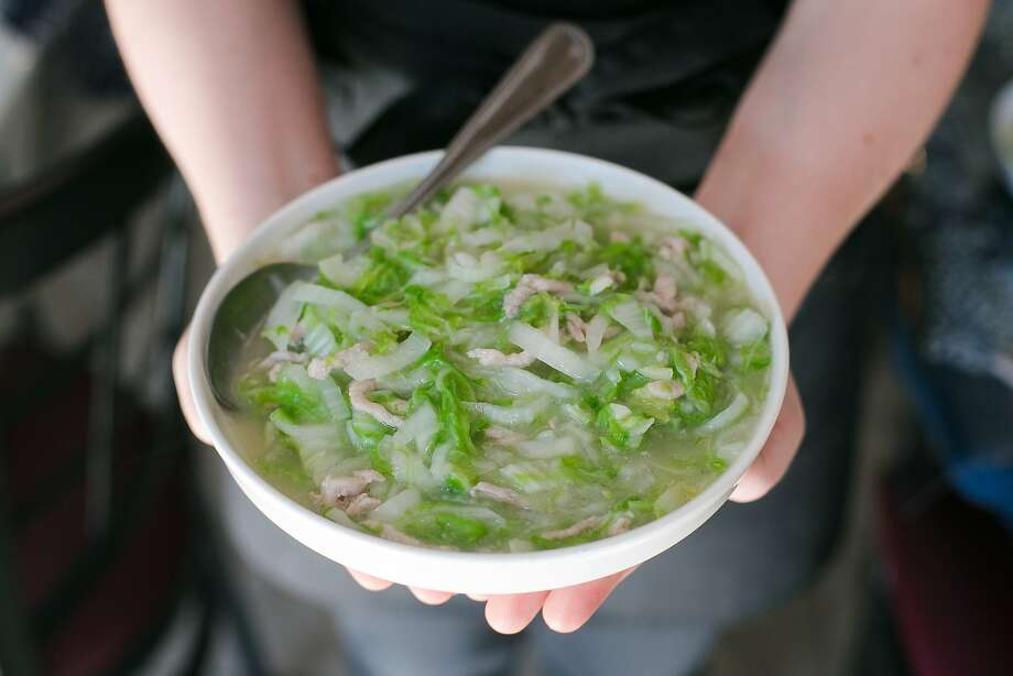 Cabbage is served boiled or griddled with pork at Taste of Jiangnan in S.F. Photo: Jen Fedrizzi, Special To The Chronicle