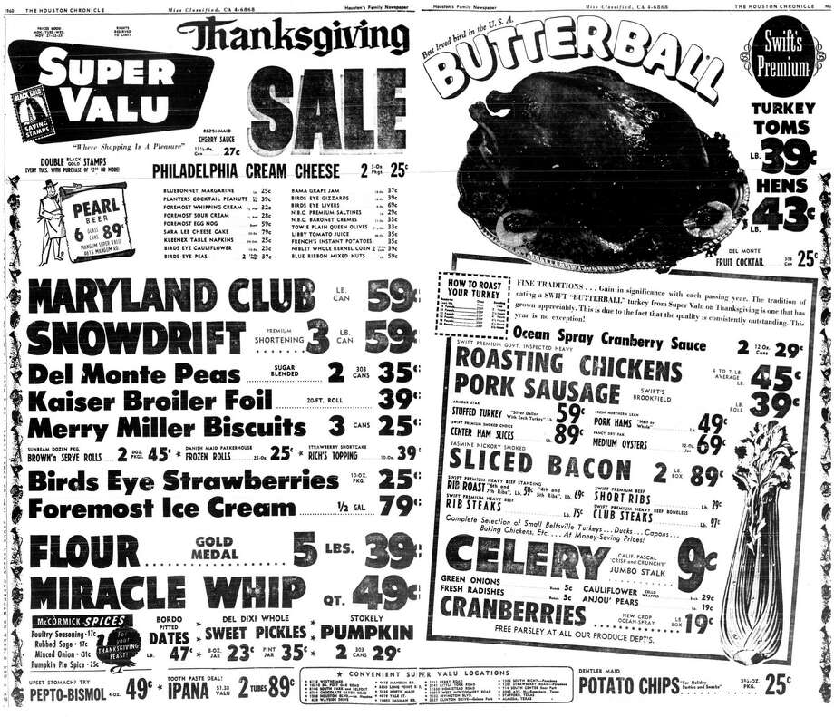 A 1960 Super Valu ad. Super Valu became the Randalls chain. Photo: Houston Chronicle
