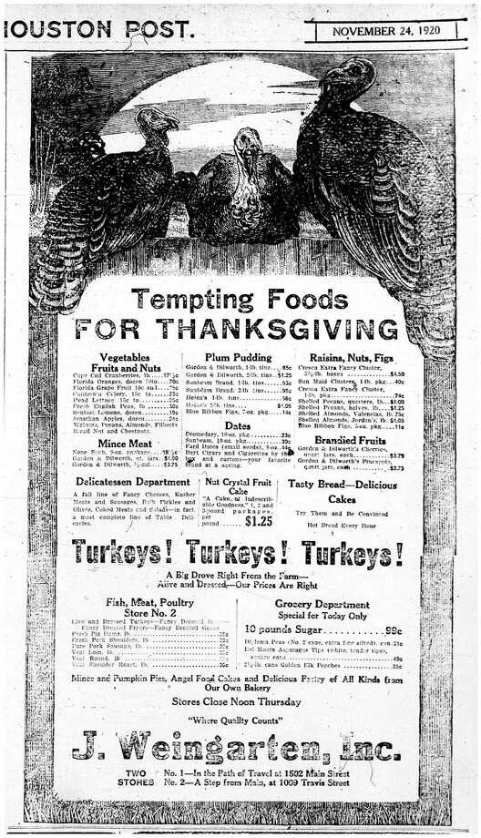 1920 Weingarten's ad. Photo: Houston Chronicle