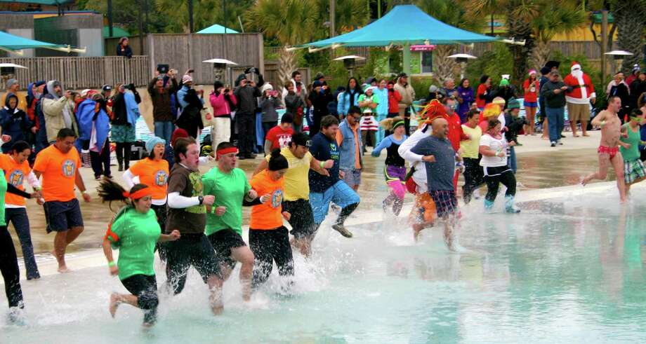 The Polar Plunge is an annual fitness event held at SeaWorld's Aquatica water park. SeaWorld decided to make Aquatica a stand-alone park after market research showed consumer demand for a separate ticket. Entrance into Aquatica previously required buying a two-park ticket. Photo: Courtesy Photo