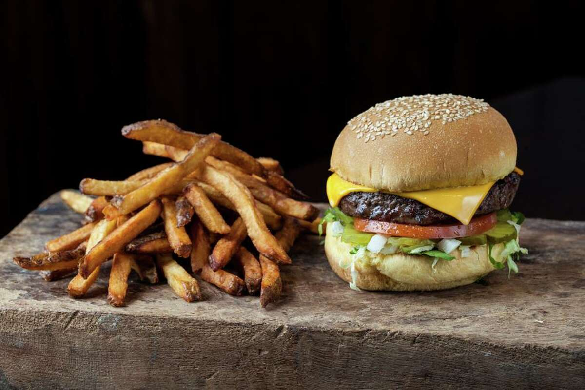 A cheeseburger and hand-cut fries as served at Becks Prime.