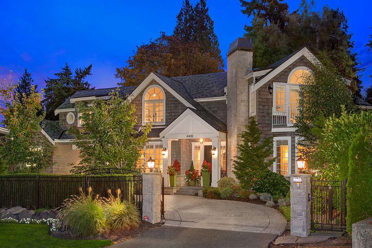 This home at 4432 92nd Ave. N.E. in Yarrow Point has five bedrooms, four and three-quarters bathrooms and totals 5,480 square feet. The full listing is here.