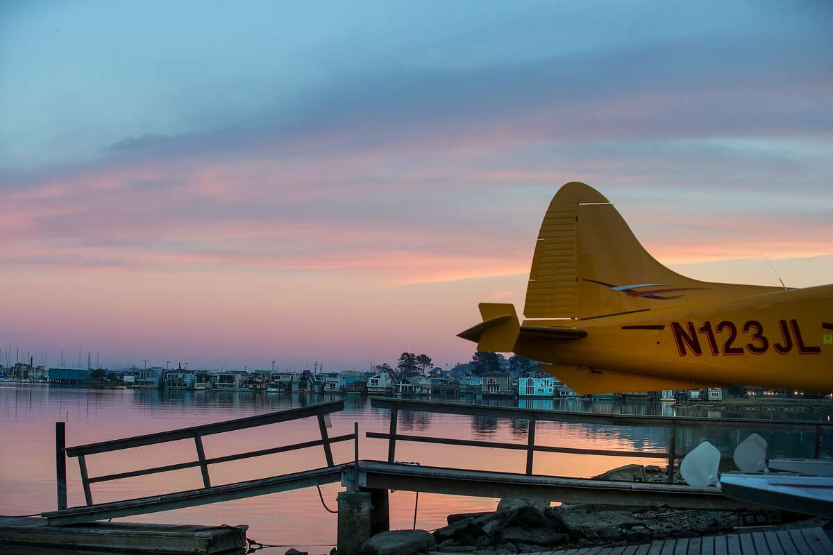 A seaplane in Sausalito is seen on Saturday, Nov. 21, 2015 in South San Francisco, Calif.