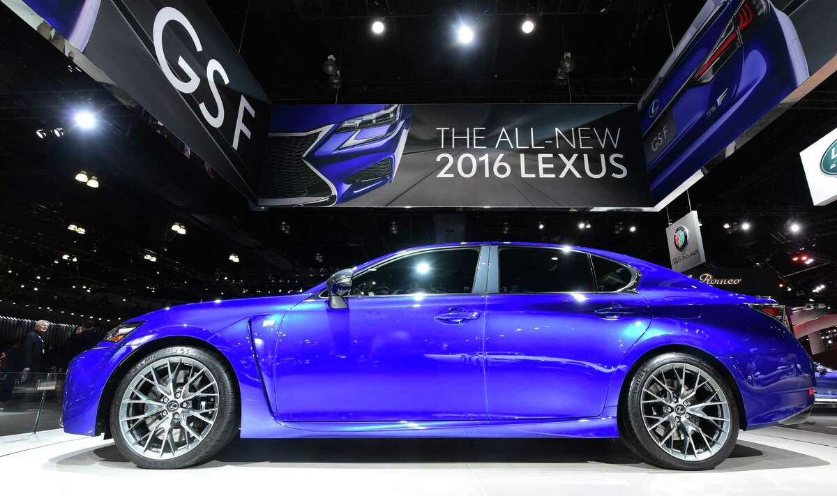 The 2016 Lexus GSF is displayed at the 2015 Los Angeles Auto Show in Los Angeles, California on November 18, 2015. The LA Auto Show opens to the public on November 20.