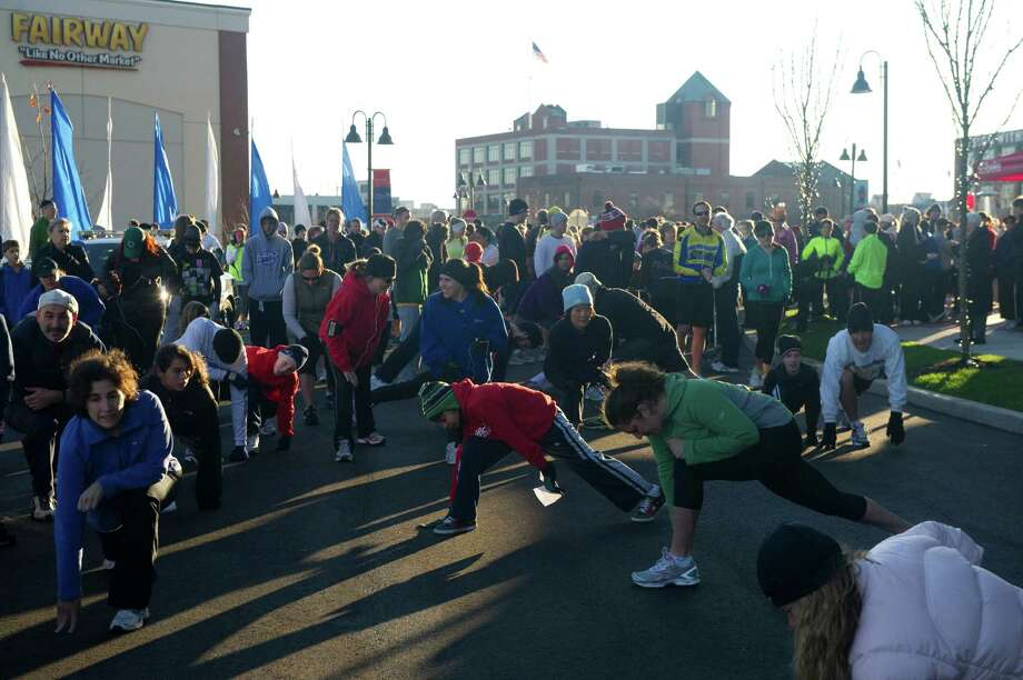 The turkey trot at Harbor Point starts at 8:30 a.m. on Thursday, Photo: Keelin Daly / Keelin Daly