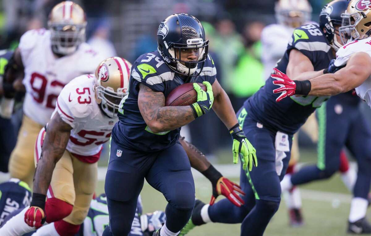 Running backs: It was all about Thomas Rawls, who showed great explosiveness and physicality from the Hawks' first drive of the game. His 209 rushing yards eclipsed a franchise rookie record, and his three receptions for 46 yards, including a 31-yard score, proved he wasn't a one-trick pony. Fred Jackson got four carries and two receptions in his most action since Week 4, but he was mostly ineffective. Doesn't matter, Rawls was that good.Grade: A+++