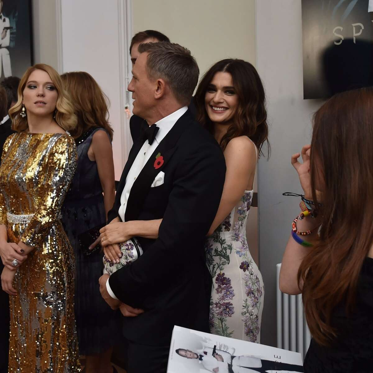 """Daniel Craig and wife Rachel Weisz attend The Cinema and Television Benevolent Fund's Royal Film Performance 2015 of the 24th James Bond Adventure, """"Spectre"""" at Royal Albert Hall on Oct. 26, 2015 in London, England."""