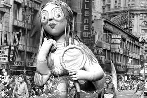 San Francisco Chronicle Thanksgiving Balloon Parade Parade appears to only have been held 1952-53 Photo ran 11/27/1953