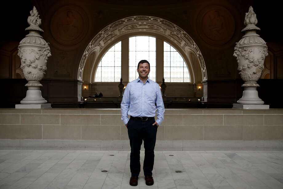 Sam Dodge stands in San Francisco City Hall in San Francisco, California, on Monday, Nov. 23, 2015. Photo: Connor Radnovich, The Chronicle