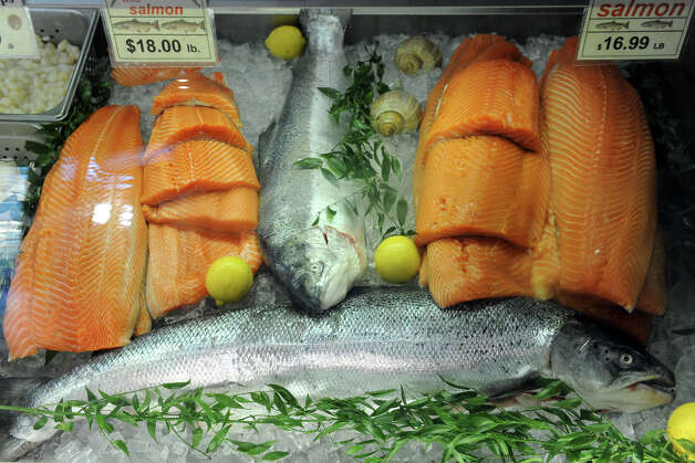 Fresh salmon for sale at swanson s fish market in for Swanson s fish market