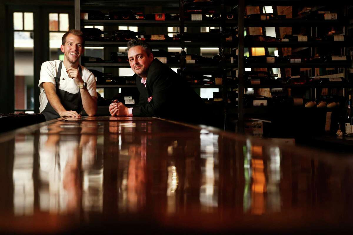 Sommelier Evan Turner announced Monday he was parting ways with Helen Greek Food and Wine and Helen in the Heights. He was instrumental in developing the concepts for both restaurants. Turner, right, is shown with Helen's chef William Wright. Update: Turner has returned to the Helen restaurants.