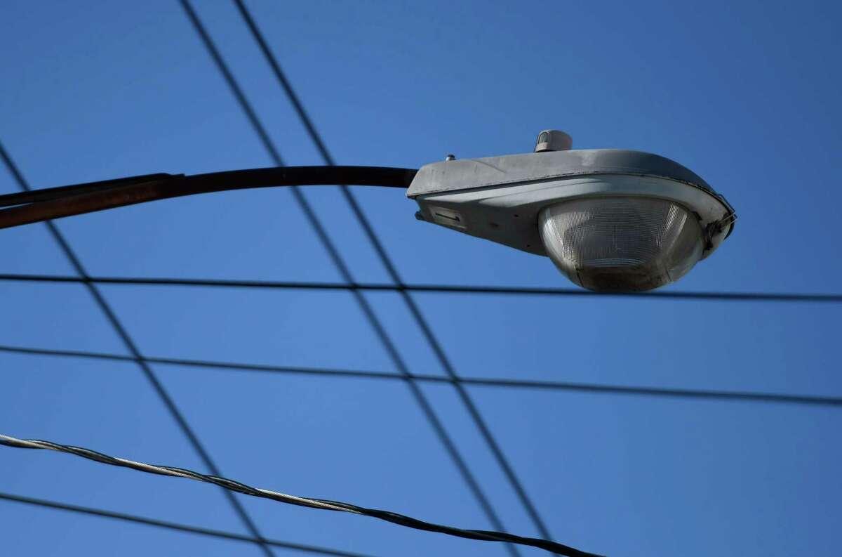 Street light in Albany, N.Y.