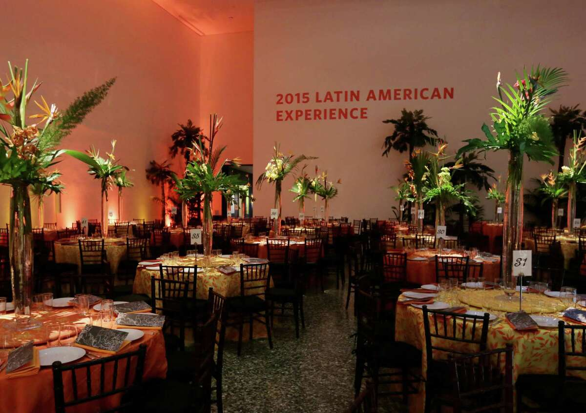 The decor at the Latin American Experience Gala at the Museum of Fine Arts Houston.
