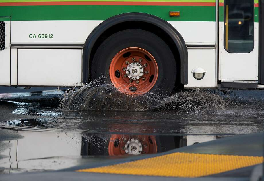 Signs of flooding are seen at the Park and Ride lot on Monday, Nov. 23, 2015 in Mill Valley, Calif. Photo: Nathaniel Y. Downes, The Chronicle