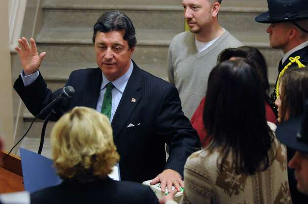 Michael Conners is sworn in as Albany County Comptroller Monday afternoon at the Albany County Courthouse in Albany N.Y.  , Dec. 26, 2011. (Will Waldron / Times Union) Photo: WW / 00015900A