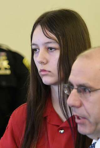 Tiffany Van Alstyne, center, appears for her arraignment on two counts of Murder 2nd and one count of manslaughter in the Kenneth White murder case Wednesday morning, Feb. 11, 2015, at Albany County Court in Albany, N.Y. Van Alstyne is represented by Public Defender James MIlstein, right. (Skip Dickstein/Times Union) Photo: SKIP DICKSTEIN / 00030564A