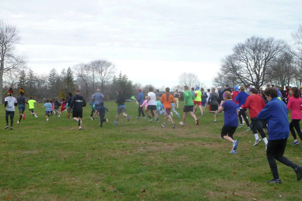 Runners in the 12th Annual New Canaan Turkey Trot, a 5K run/walk through Waveny Park in New Canaan held Sunday, Nov. 22. The event is a fundraiser for Norwalk's Open Door Shelter.