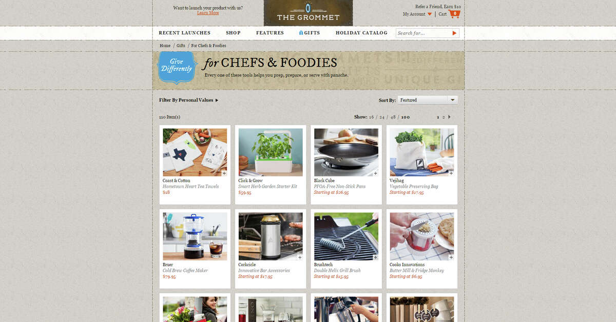 Your Christmas shopping list may be long, but these websites just made it a whole lot easier. For the chef or cooking enthusiast Thegrommet.com