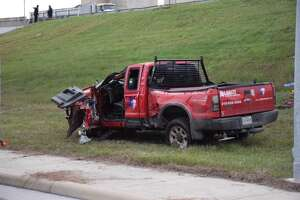 Man dies following rollover on Wurzbach Parkway - Photo