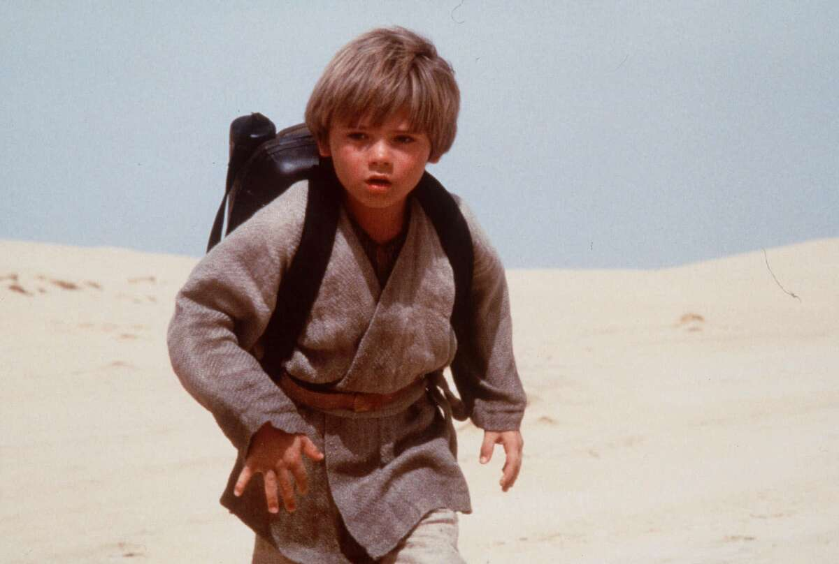Jake Lloyd, who portrays Anakin Skywalker in 'Star Wars: Episode 1 - The Phantom Menace,' is pictured in this still photograph from the movie, which scheduled to appear in theaters May 19, 1999.