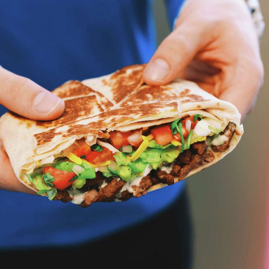 Fully Loaded Steak Boss Wrap from Taco Bell:A double portion of grilled marinated steak, reduced-fat sour cream, 