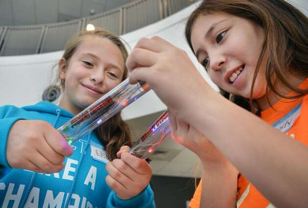 Elementary school students attend NanoDiscovery Day at SUNY Poly in Albany on Tuesday, Nov. 24, 2015, to learn about the world of nanotechnology. (John Carl D'Annibale/Times Union)