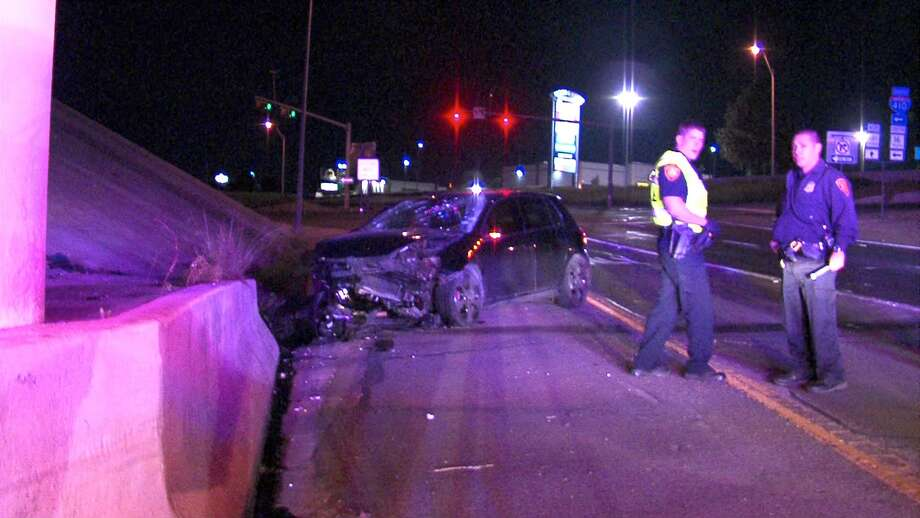 A man was injured Tuesday morning following a crash on the West Side. Photo: 21 Pro Video