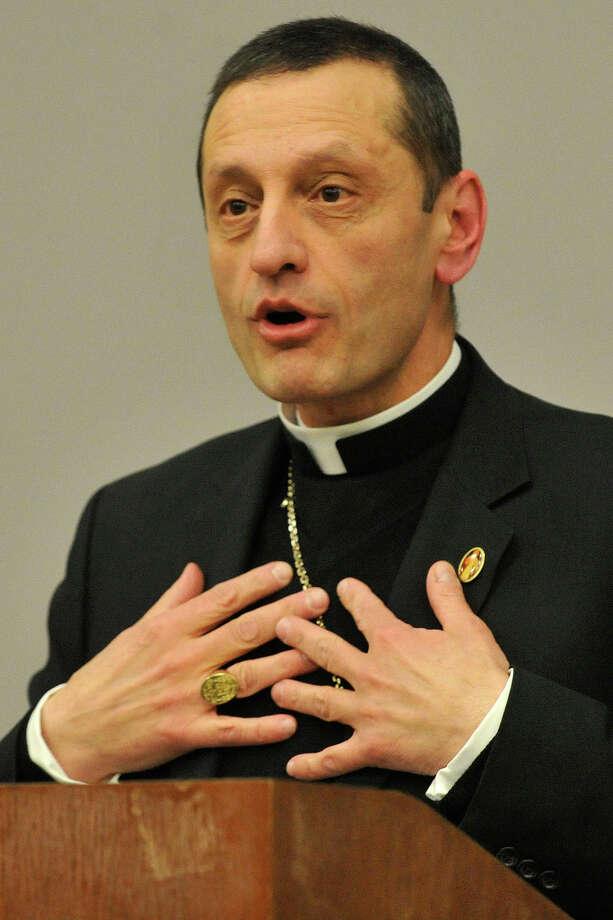 Bishop Frank Caggiano Photo: Jason Rearick / Jason Rearick / Stamford Advocate
