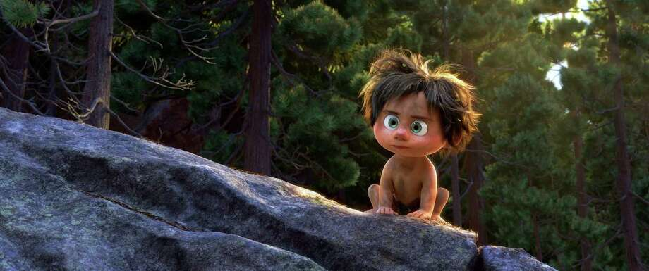"""""""The Good Dinosaur"""" features a young Apatosaurus named Arlo and his pet, a feral human boy named Spot. THE GOOD DINOSAUR - Pictured: Spot. Photo: Disney Pixar / Disney Pixar / ©2015 DisneyïPixar. All Rights Reserved."""