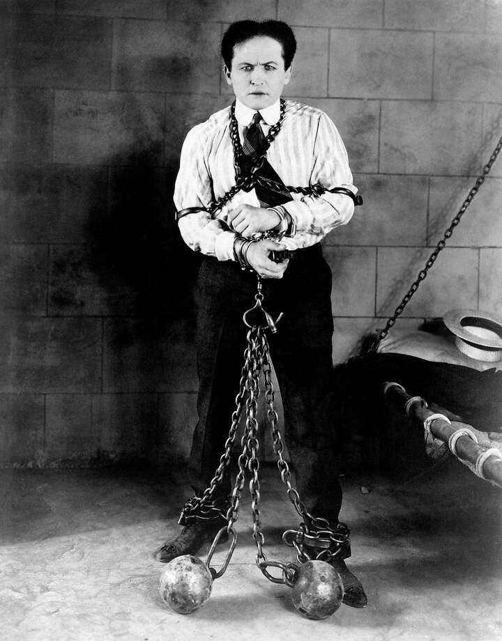 Harry Houdini (1874-1926) was an escape artist and is one of the most famous names in magic. Buried at Machpelah Cemetery, New York City, NY. Photo: Courtesy Of Rick Schmidlin.