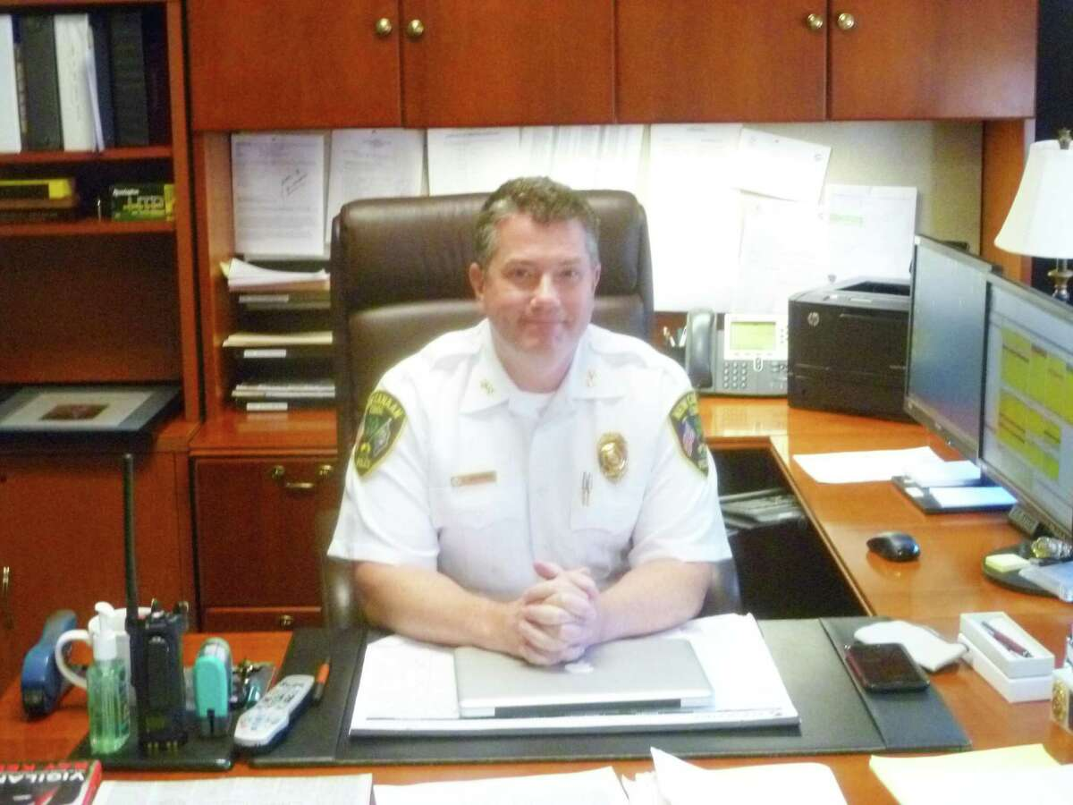 New Canaan Police Chief Leon Krolikowski in his office on Nov. 23. Krolikowski is proposing a new diversionary education program for town youth who could otherwise be charged with possession of alcohol by a minor. Krolikowski hopes the program helps kids choose to avoid alcohol or substance abuse.