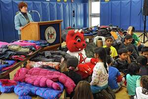 Albany schoolchildren receive Coats for Kids on Tuesday - Photo