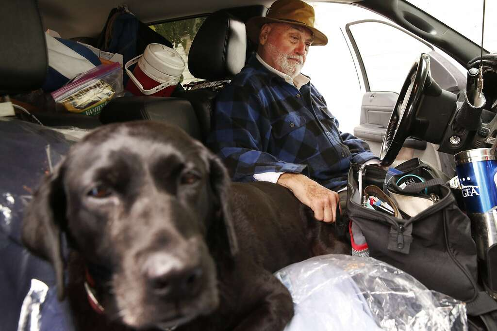 Fred Cope III Sits In His Truck With Midnight Favorite Dog Outside Of Buena Vista Mobile Home Park