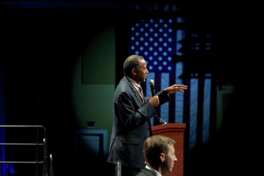 Dr. Ben Carson addresses the Sunshine Summit, a Republican Party of Florida event, in Orlando, Fla., Nov. 13, 2015. The assault on Paris has thrust national security to the heart of the presidential race, prompting voters to reconsider their flirtations with unconventional candidates and to take a more sober measure of who is prepared to serve as commander-in-chief.  Photo: STEPHEN CROWLEY / New York Times / NYTNS